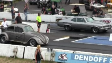 1000 hp Muscle Car vs crazy VW Beetle-Can VW beat 1000hp muscle car?