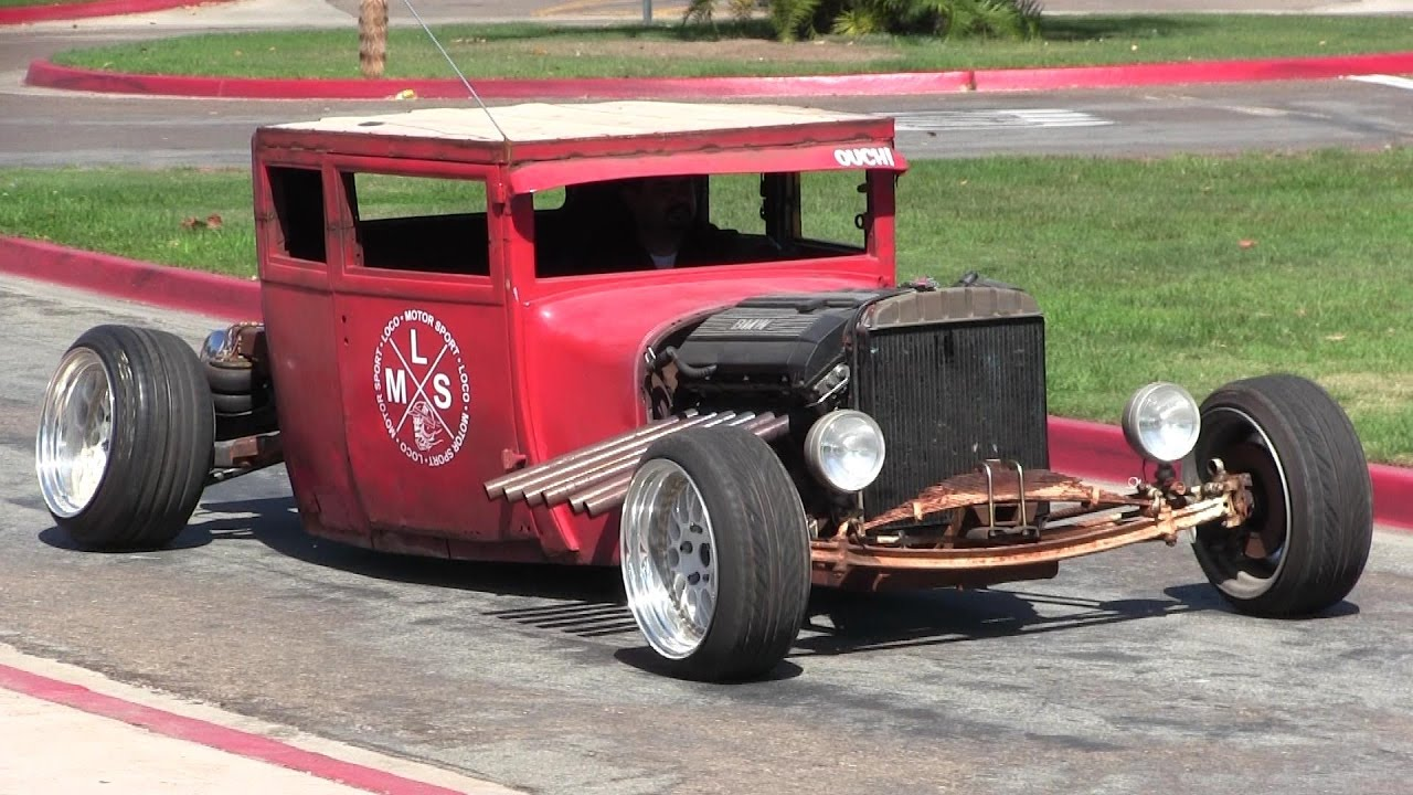 Have You Ever Seen Something Like This Crazy Rat Rod Hot 1954 Chevy Chopped And Bagged Preload Image