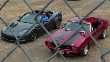 New muscle cars vs old muscle part 2-sound,top speed,drag races and burnouts