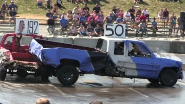 Pickup trucks demolition derby-the best hits,crashes and fire