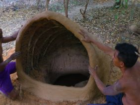 Primitive Tool : Build Underground House protect cool season