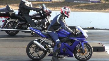 R6 Yamaha with nitrous is the monster-sound and drag race